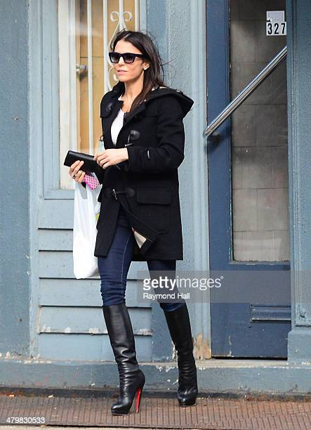 Bethenny Frankel is seen in Soho March 20 2014 in New York City