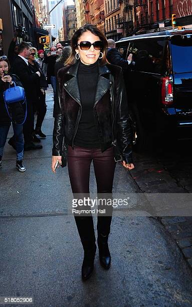 Bethenny Frankel is seen in Soho on March 29 2016 in New York City