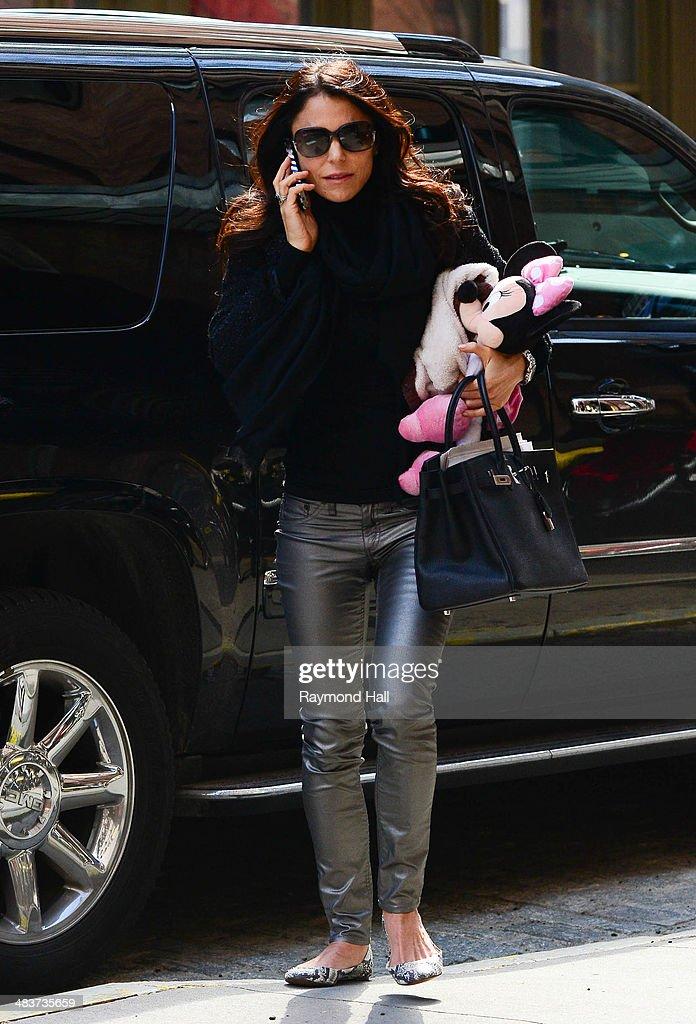 Bethenny Frankel is seen in Tribeca on April 9, 2014 in New York City.