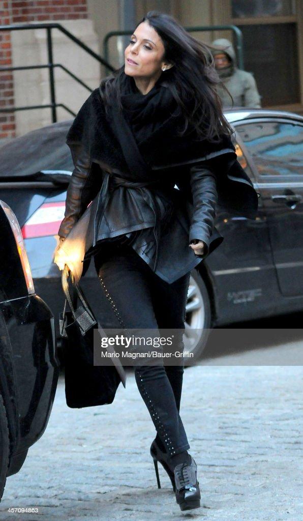Bethenny Frankel is seen on December 16, 2013 in New York City.