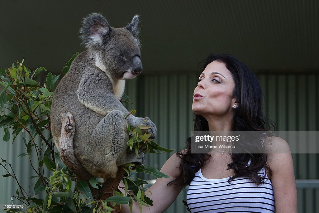 Bethenny Frankel meets 'Blinky Bill' the koala during a visit to WILD LIFE Sydney on February 20, 2013 in Sydney, Australia.
