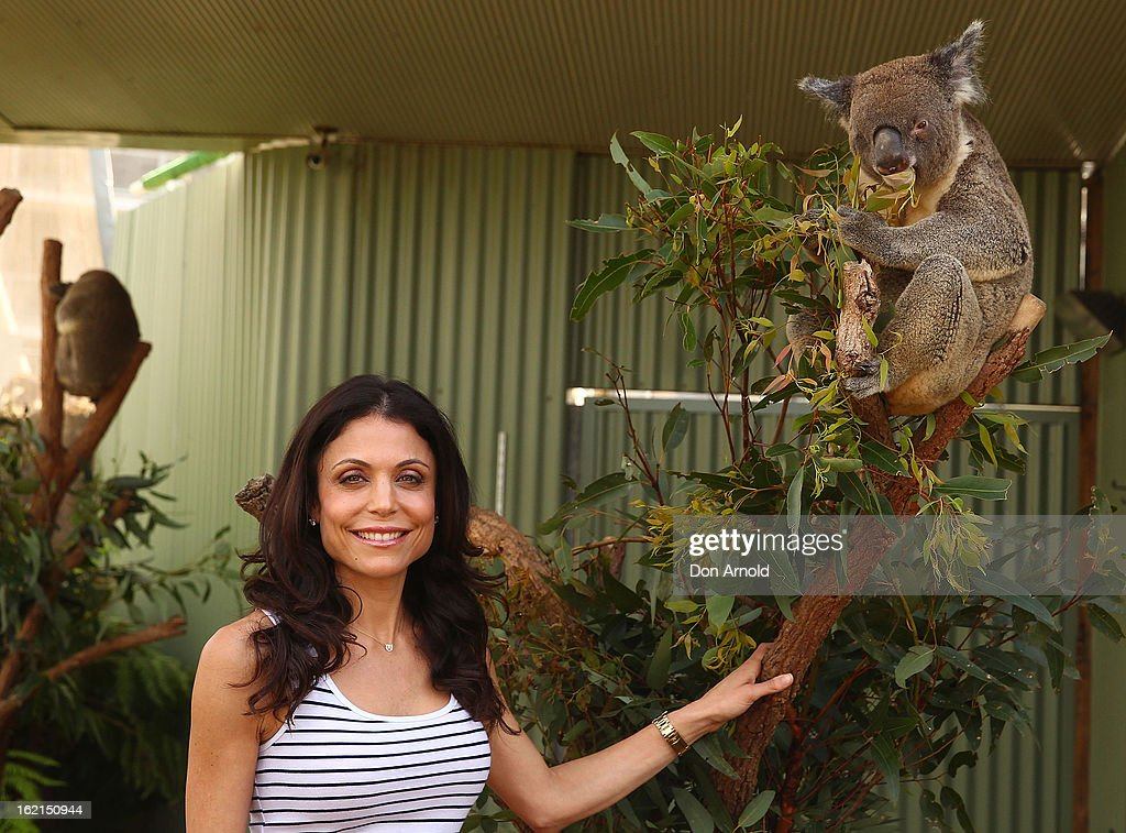 Bethenny Frankel poses alongside Blinky Bill the koala during her visit to WILD LIFE Sydney on February 20, 2013 in Sydney, Australia.