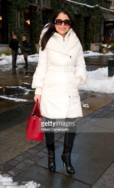 Bethenny Frankel seen around Bryant Park during MercedesBenz Fashion Week Fall 2010 on February 11 2010 in New York City