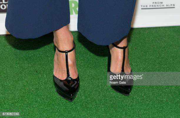 Bethenny Frankel shoe detail attends the 23rd Annual City Harvest 'An Evening of Practical Magic' Gala at Cipriani 42nd Street on April 25 2017 in...