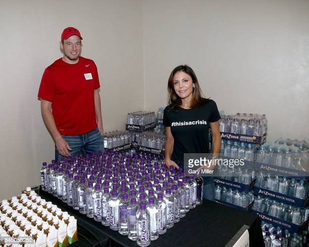 Bethenny Frankel visits with survivors of hurricane Harvey at Dress for Success Houston on September 9 2017 in Houston Texas