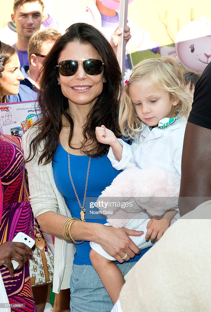 <a gi-track='captionPersonalityLinkClicked' href=/galleries/search?phrase=Bethenny+Frankel&family=editorial&specificpeople=873539 ng-click='$event.stopPropagation()'>Bethenny Frankel</a> (L) with daughter <a gi-track='captionPersonalityLinkClicked' href=/galleries/search?phrase=Bryn+Hoppy&family=editorial&specificpeople=7418444 ng-click='$event.stopPropagation()'>Bryn Hoppy</a> attend the Doc Mobile Tour at the Disney Store on August 21, 2013 in New York City.