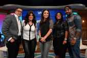 Bethenny Hosts Gabby Douglas and Surprises Three Gymnasts as well as Kathy Rich Wakile Jim Jones Chrissy Lampkin June Diane Raphael and Casey Wilson...