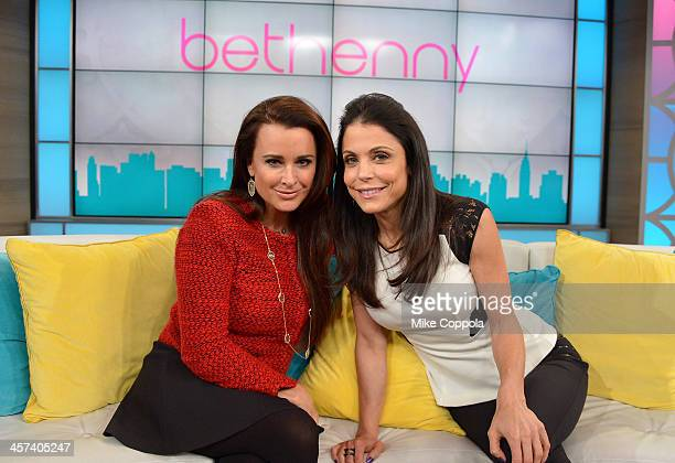 Bethenny Hosts Kyle Richards Dita Von Teese at the CBS Broadcast Center on December 17 2013 in New York City