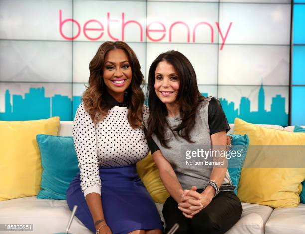 Bethenny hosts La La Anthony at the CBS Broadcast Center on October 23 2013 in New York City