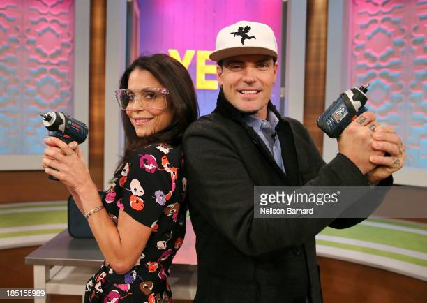 Bethenny hosts Vanilla Ice at the CBS Broadcast Center on October 16 2013 in New York City