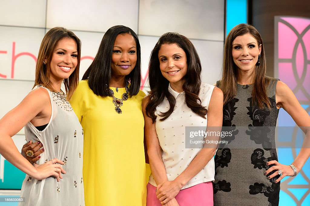 Bethenny hosts Vinny Guadagnino, 73-Year-Old Twerking Grandma Joan Wind, <a gi-track='captionPersonalityLinkClicked' href=/galleries/search?phrase=Melissa+Rycroft&family=editorial&specificpeople=5761590 ng-click='$event.stopPropagation()'>Melissa Rycroft</a>, <a gi-track='captionPersonalityLinkClicked' href=/galleries/search?phrase=Garcelle+Beauvais&family=editorial&specificpeople=203112 ng-click='$event.stopPropagation()'>Garcelle Beauvais</a>, and Heather Dubrow at the CBS Broadcast Center on October 3, 2013 in New York City.