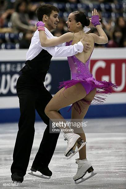 Betina Popova and Yuri Vlasenko of Russia compete in the Junior Ice Dance Short Dance during day three of the ISU Grand Prix of Figure Skating Final...