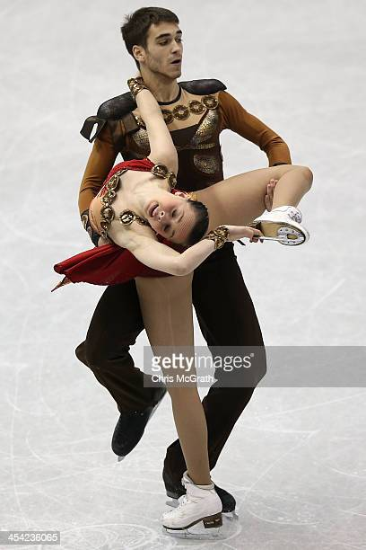 Betina Popova and Yuri Vlasenko of Russia compete in the Junior Ice Dance Free Dance Final during day four of the ISU Grand Prix of Figure Skating...
