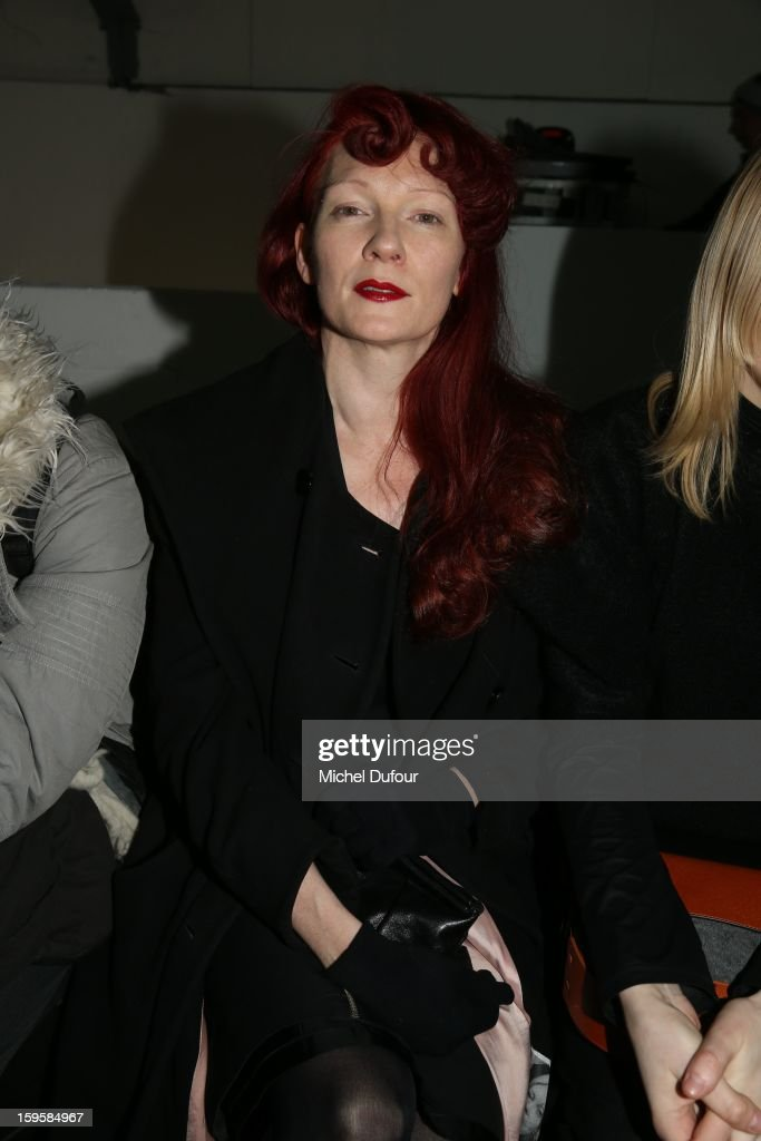 Betony Vernon attends the Mugler Men Autumn / Winter 2013 show as part of Paris Fashion Week on January 16, 2013 in Paris, France.