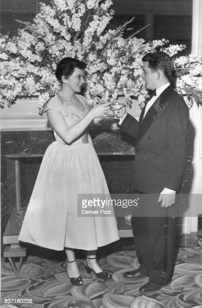 Betrothed CoupleA toast tot he bridal pair is offered by Miss Dorothy Jane Reesor and Donald C Bromfield Jr whose engagement was announced on...
