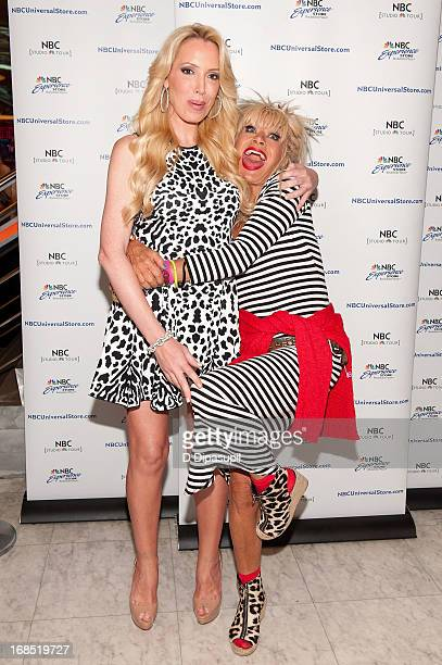 Betsey Johnson and daughter Lulu Johnson attend a meet greet at the NBC Experience Store on May 10 2013 in New York City