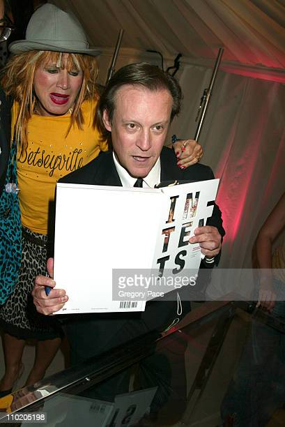 Betsey Johnson and Patrick McMullan during Olympus Fashion Week Spring 2005 KickOff Party And Book Launch of Patrick McMullen's 'InTents' at Saks...