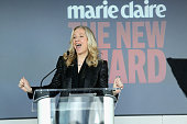 Betsy Beers Executive Producer ABC speaks onstage at Marie Claire's SecondAnnual New Guard Lunch at Hearst Tower on October 30 2014 in New York City