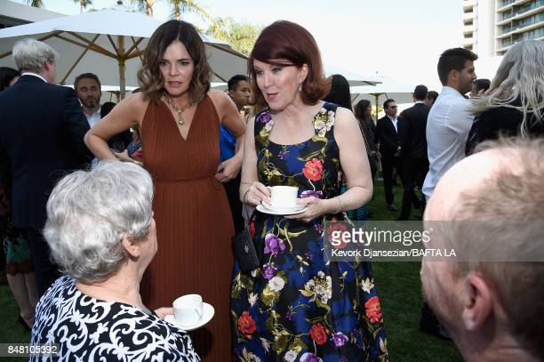 Betsy Brandt and Kate Flannery attend the BBC America BAFTA Los Angeles TV Tea Party 2017 at The Beverly Hilton Hotel on September 16 2017 in Beverly...
