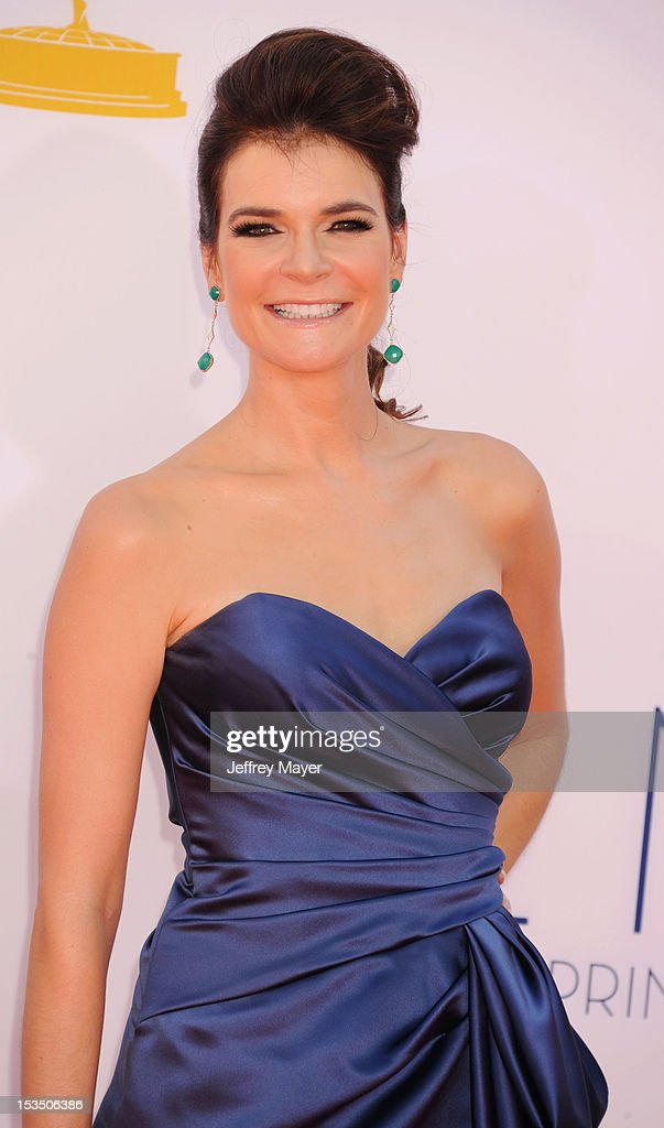 Betsy Brandt arrives at the 64th Primetime Emmy Awards at Nokia Theatre L.A. Live on September 23, 2012 in Los Angeles, California.