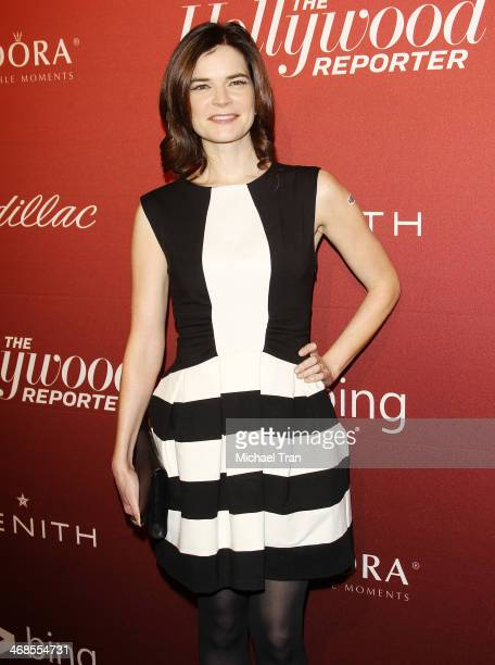 Betsy Brandt arrives at The Hollywood Reporter's Annual Nominees Night party held at Spago on February 10 2014 in Beverly Hills California