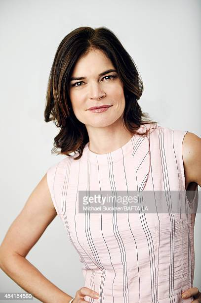Betsy Brandt poses for a portrait at the BAFTA Tea Party on August 23 2014 on August 23 2014 in Los Angeles California