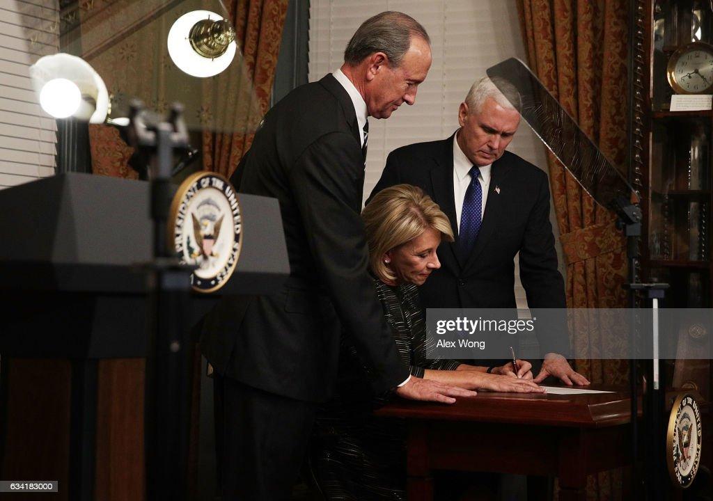 Betsy DeVos Is Sworn In As Education Secretary