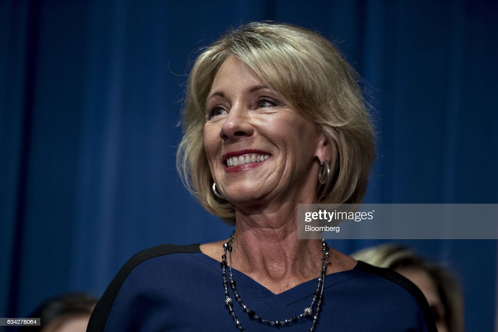 Betsy DeVos Addresses Employees At Department Of Education