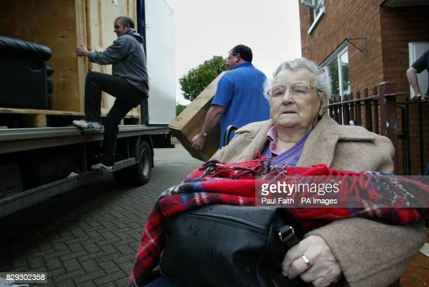 Betsy McClenaghan aged 91whose wheelchair bound leaves her North Belfast home after 62 years she is one of ten Protestant families who abandoned...