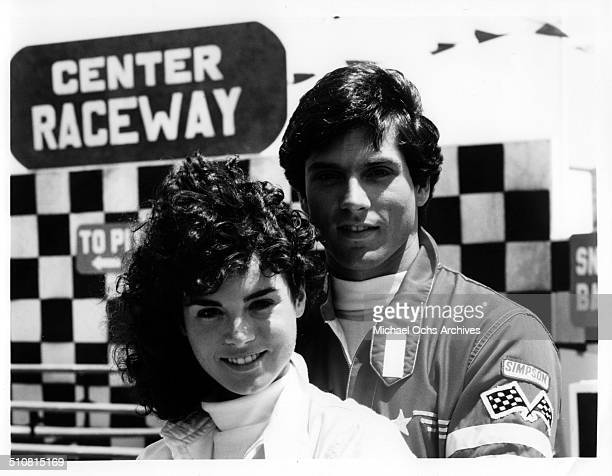 Betsy Russell and Gerard Christopher pose together for the movie 'Tomboy' circa 1985