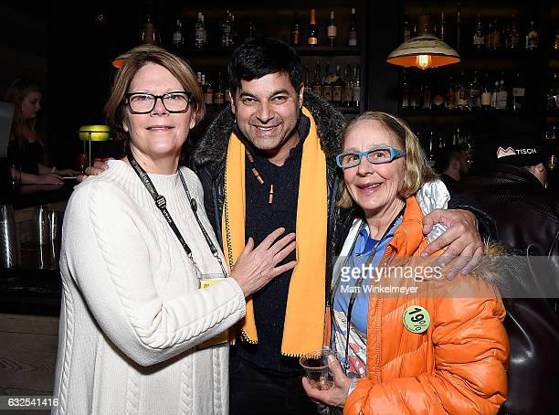 Betsy Wallace Reef Karim and Ellen Hendrickson attend the Film Independent International Documentary Association Oovra Music And RO*CO FILMS Sundance...