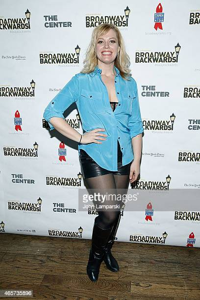 Betsy Wolf attends 10th Anniversary of Broadway Backwards at John's on March 9 2015 in New York City