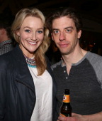 Betsy Wolfe and Christian Borle attend the closing night reception for the Encores production of 'Little Me' at the New York City Center on February...