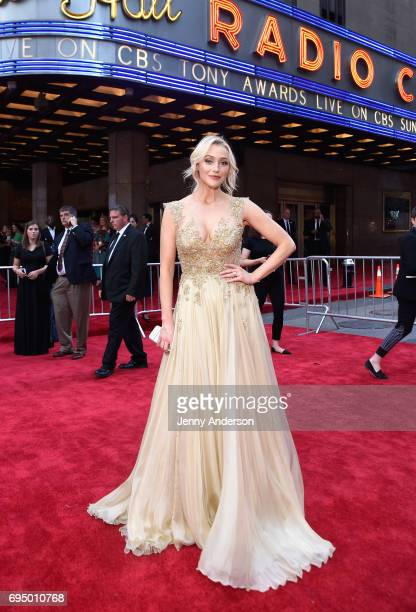 Betsy Wolfe attends the 2017 Tony Awards at Radio City Music Hall on June 11 2017 in New York City