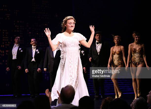 Betsy Wolfe during the Broadway Opening Night Performance Curtain Call for ''Bullets Over Broadway'' at the St James Theatre on April 10 2014 in New...