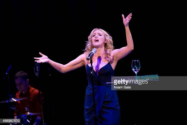 Betsy Wolfe performs at the Sundance Sings hosted by Sundance Institute Theater Department at Symphony Space on September 29 2014 in New York City