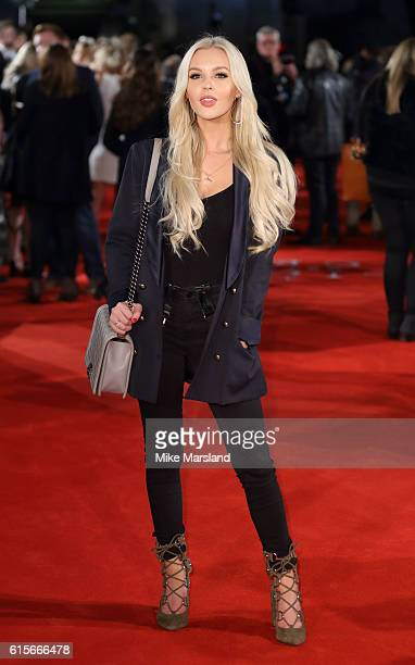 BetsyBlue English arrives for the UK premiere of 'The Light Between Oceans' at The Curzon Mayfair on October 19 2016 in London England