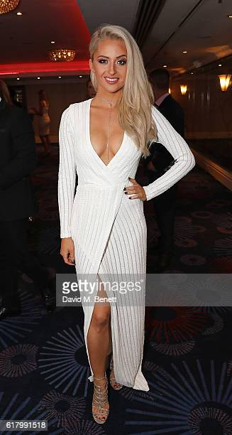 BetsyBlue English attends 'An Evening With The Stars' charity gala in aid of Save The Children at The Grosvenor House Hotel on October 25 2016 in...