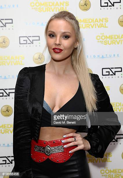 BetsyBlue English attends the UK Premiere of 'The Comedian's Guide To Survival' at Vue Piccadilly on October 27 2016 in London England