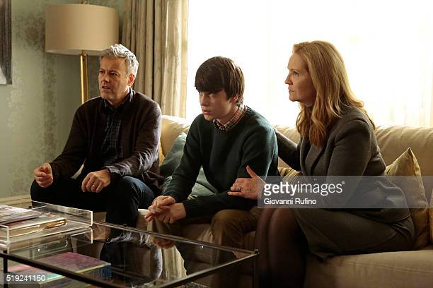 THE FAMILY 'Betta Male' Detective Nina Meyer searches for clues about Adam's history as she watches his therapy sessions while a guilty Claire...