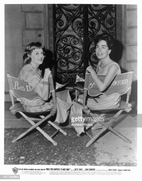 Bette Davis and Joan Crawford in between scenes from the film 'What Ever Happened To Baby Jane' 1962