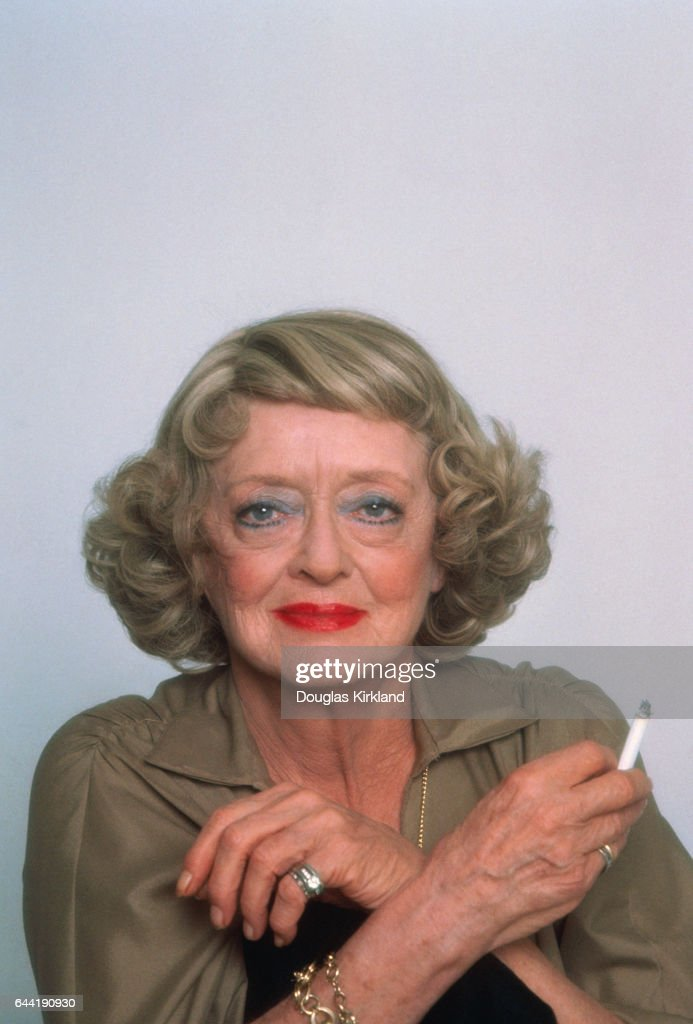 Bette Davis Holding Cigarette