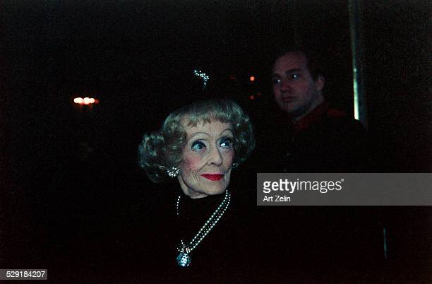 Bette Davis wearing pearls circa 1989 New York