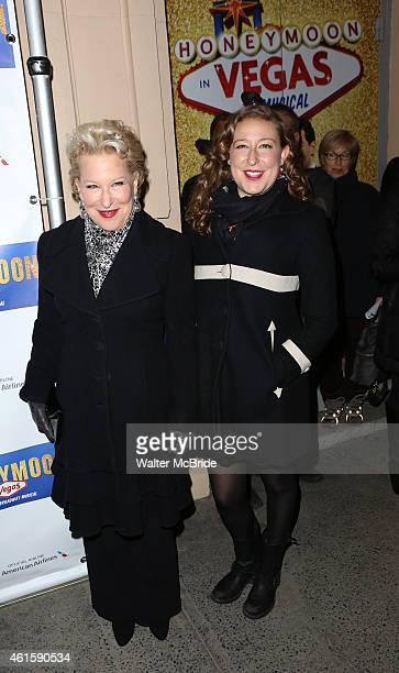 Bette Midler and daughter Sophie von Haselberg attend the Broadway Opening Night Performance of 'Honeymoon in Vegas' at the Nederlander Theatre on...