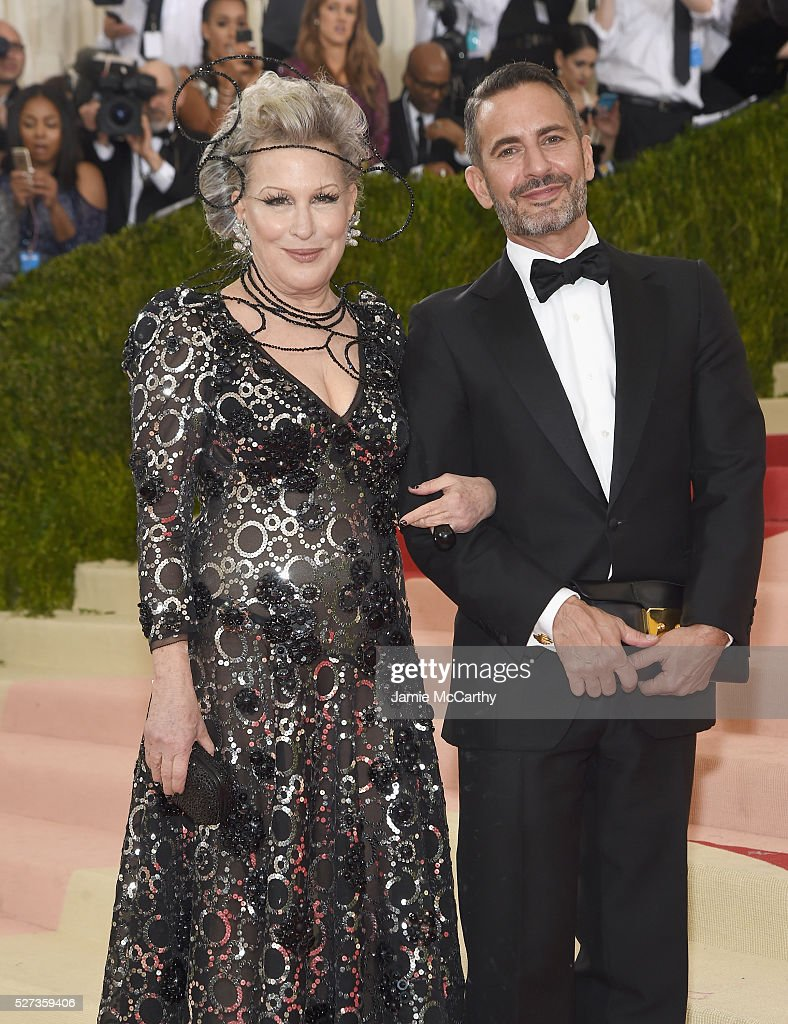 Bette Midler (L) and Marc Jacobs attends the 'Manus x Machina: Fashion In An Age Of Technology' Costume Institute Gala at Metropolitan Museum of Art on May 2, 2016 in New York City.