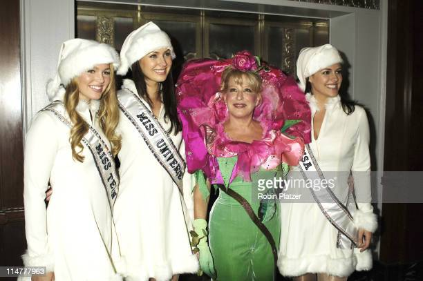 Bette Midler and Miss Teen USA Allie LaForce Miss Universe Natalie Glebova and Miss USA Chelsea Cooley