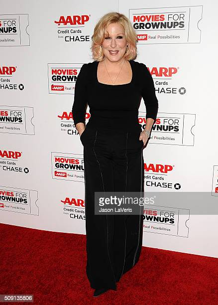 Bette Midler attends the 15th annual Movies For Grownups Awards at the Beverly Wilshire Four Seasons Hotel on February 8 2016 in Beverly Hills...