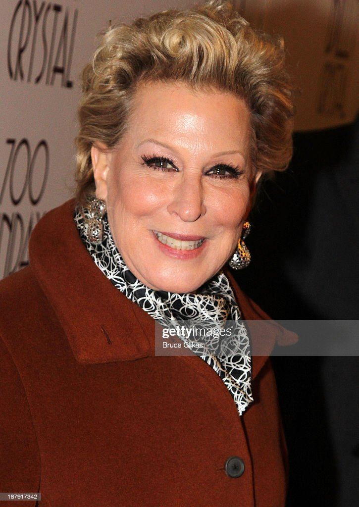 <a gi-track='captionPersonalityLinkClicked' href=/galleries/search?phrase=Bette+Midler&family=editorial&specificpeople=201551 ng-click='$event.stopPropagation()'>Bette Midler</a> attends the '700 Sundays' welcome back to Broadway at the Imperial Theatre on November 13, 2013 in New York City.