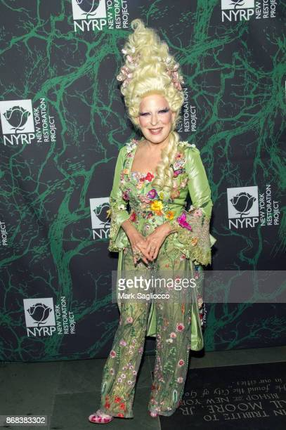 Bette Midler attends the Bette Midler's 2017 Hulaween Event Benefiting The New York Restoration Project at Cathedral of St John the Divine on October...