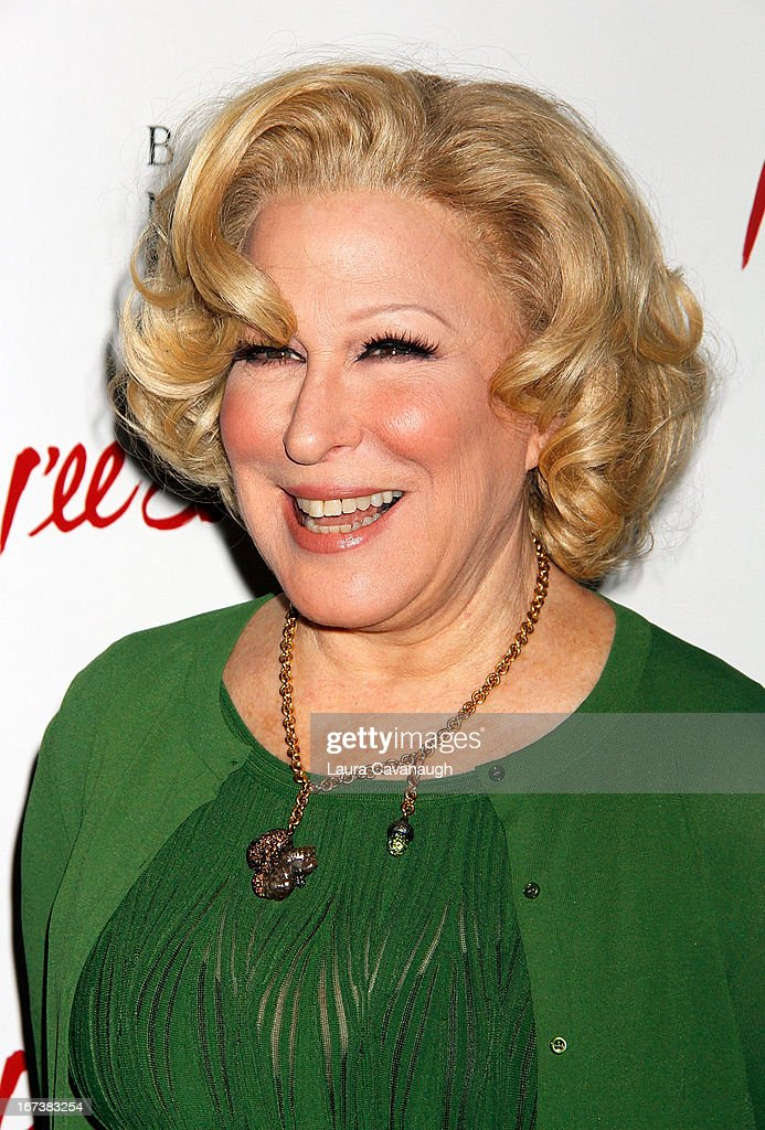 <a gi-track='captionPersonalityLinkClicked' href=/galleries/search?phrase=Bette+Midler&family=editorial&specificpeople=201551 ng-click='$event.stopPropagation()'>Bette Midler</a> attends the 'I'll Eat You Last: A Chat With Sue Mengers' Broadway opening night on April 24, 2013 in New York City.
